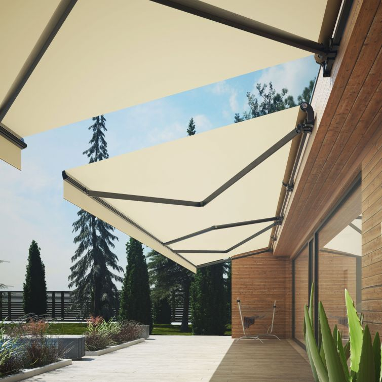 Awnings of Extensible Arms